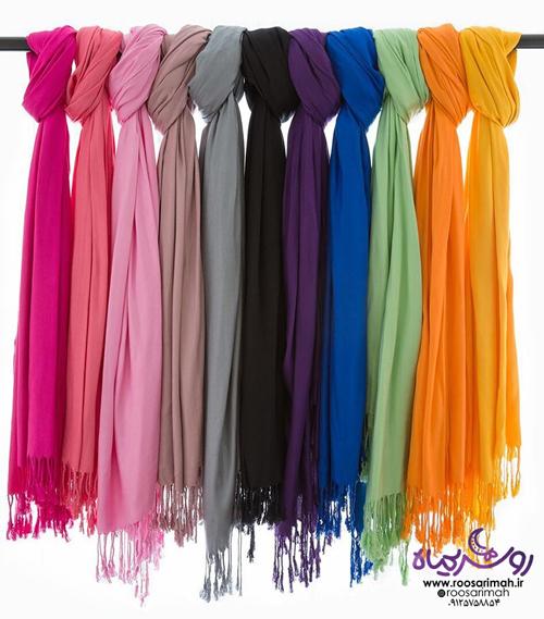 شال و روسری با رنگ های متنوع | روسریماه