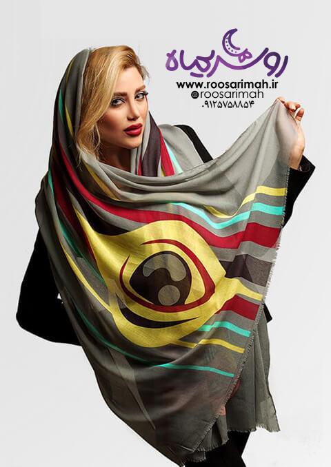 شال و روسری با رنگ های متنوع و زیبا | روسریماه